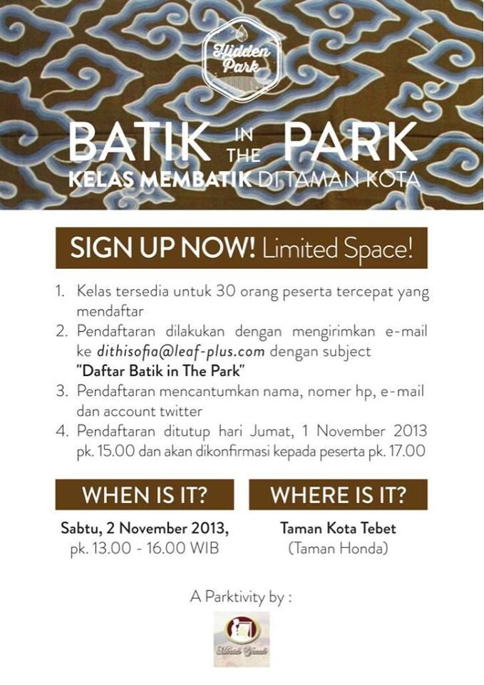 batik in the park