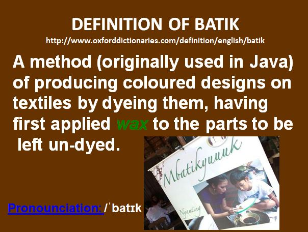 definisi batik