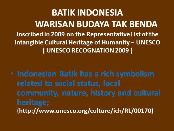 pengakuan UNESCO